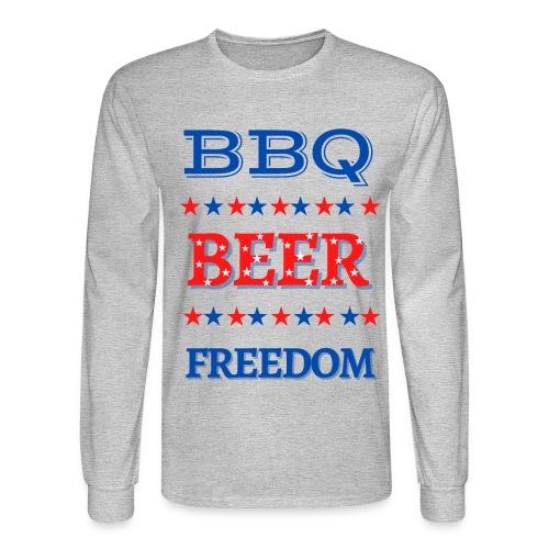 BBQ BEER FREEDOM - Men's Long Sleeve T-Shirt