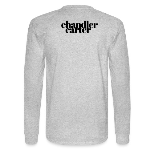 Chandler Carter Logo - Black - Men's Long Sleeve T-Shirt