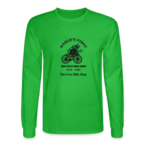 The Cove Bike Shop VIKING on front - Men's Long Sleeve T-Shirt
