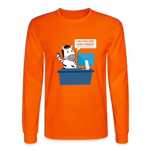 Living Rare, Living Stronger 2020 Virtual Zebra - Men's Long Sleeve T-Shirt