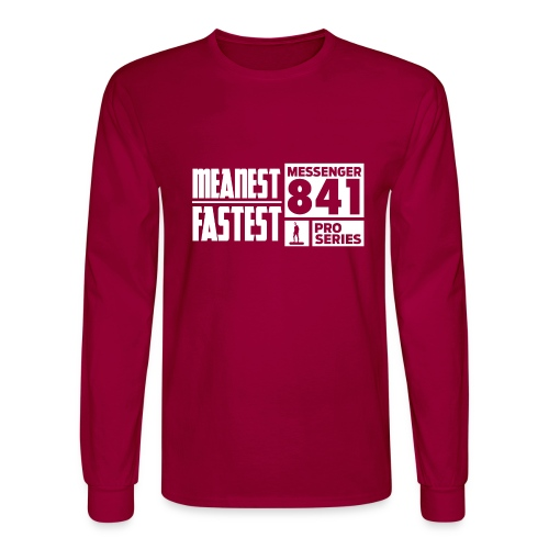 Messenger 841 Meanest and Fastest Crew Sweatshirt - Men's Long Sleeve T-Shirt