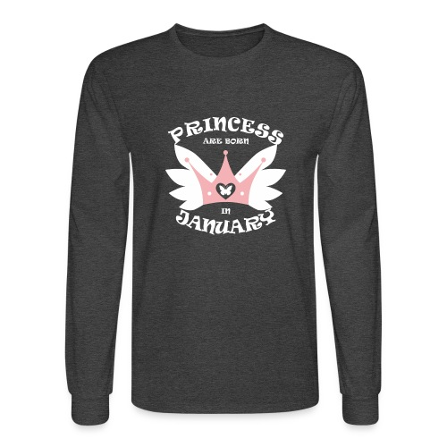 Princess Are Born In January - Men's Long Sleeve T-Shirt