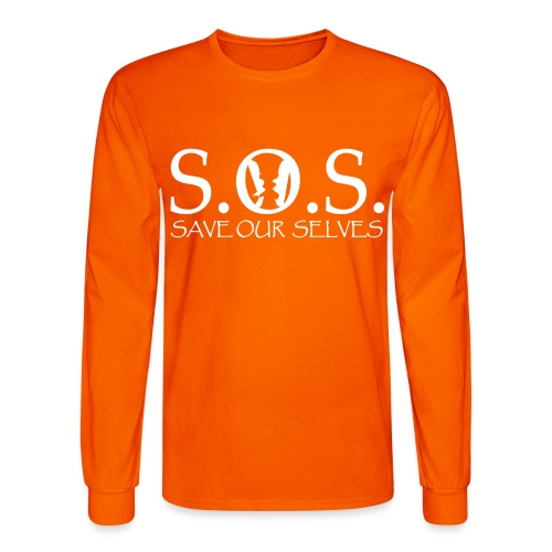 SOS WHITE4 - Men's Long Sleeve T-Shirt