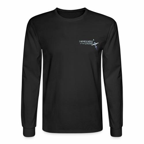 Defenders of the Cross Pocket Logo - Men's Long Sleeve T-Shirt