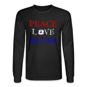 Peace, Love and Blues - Men's Long Sleeve T-Shirt