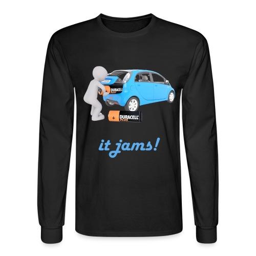 Limited Edition! E-car   Technic Style - Men's Long Sleeve T-Shirt