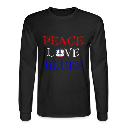 Peace, Love and Blues - Men's Long Sleeve T-Shirt