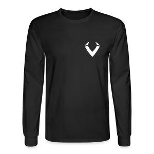 Vision V Logo - White V - Men's Long Sleeve T-Shirt