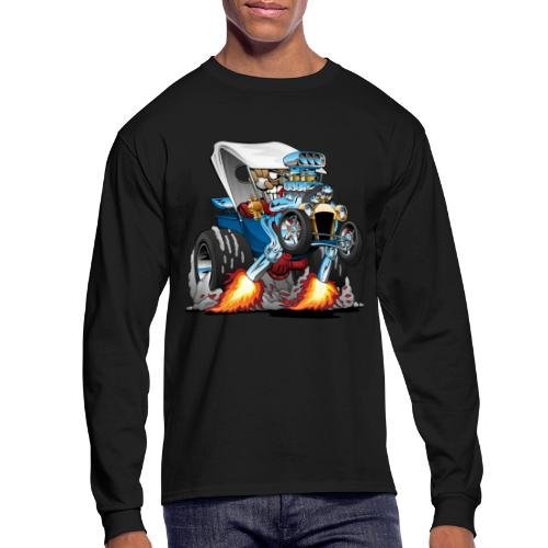 Custom T-bucket Roadster Hotrod Cartoon - Men's Long Sleeve T-Shirt
