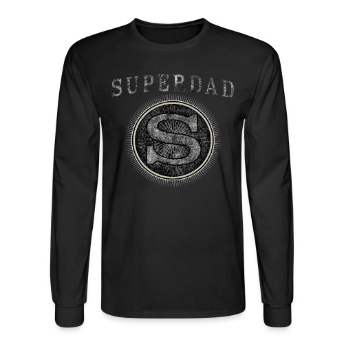 Fathersday T-Shirt - Superdad - Men's Long Sleeve T-Shirt