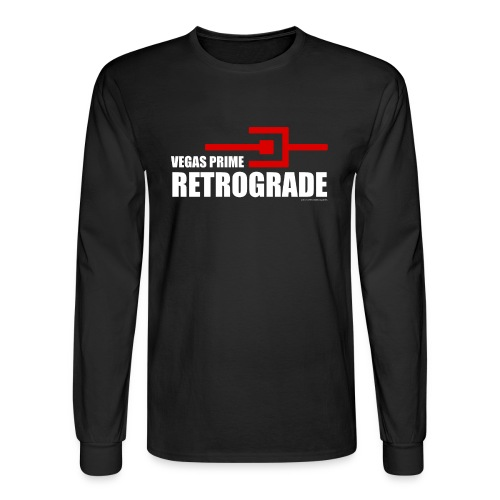 Vegas Prime Retrograde - Title and Hack Symbol - Men's Long Sleeve T-Shirt