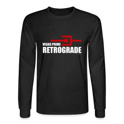 Vegas Prime Retrograde - Title and Hack Symbol - Men's Long Sleeve T-Shirt