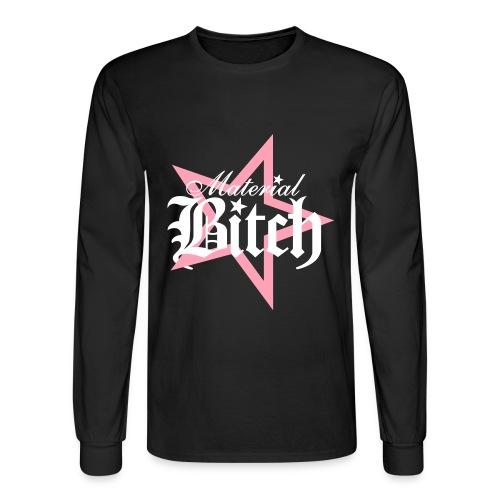 Material Bitch Logo - Men's Long Sleeve T-Shirt