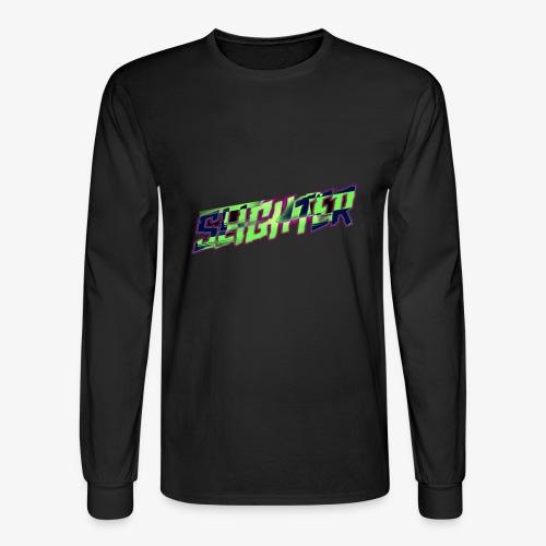 Retro Logo Glitch - Men's Long Sleeve T-Shirt