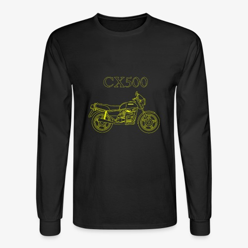 CX500 line drawing - Men's Long Sleeve T-Shirt