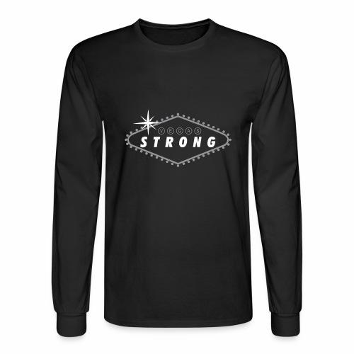 Vegas Strong Sign (white) - Men's Long Sleeve T-Shirt