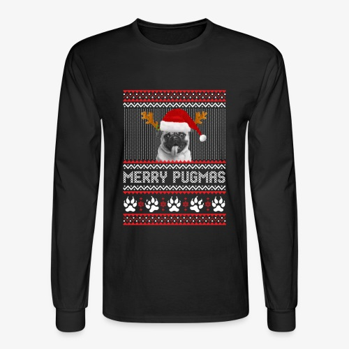 MERRY PUGMAS T-Shirt - Men's Long Sleeve T-Shirt