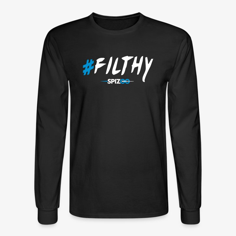 #Filthy Black - Spizoo Hashtags - Men's Long Sleeve T-Shirt