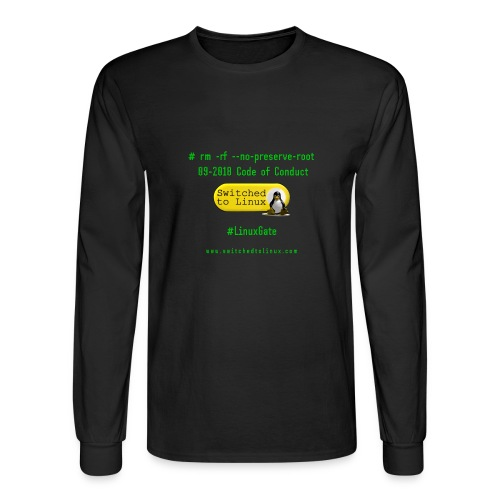 rm Linux Code of Conduct - Men's Long Sleeve T-Shirt