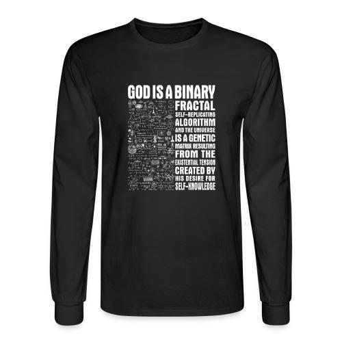God is a binary, fractal, self-replicating - Men's Long Sleeve T-Shirt
