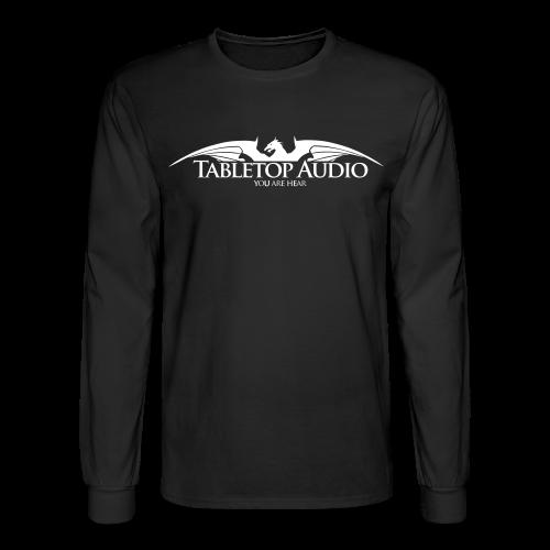 Tabletop Audio: Logo White - Men's Long Sleeve T-Shirt