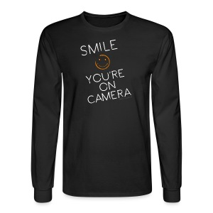 Smiley Cam Alert - Men's Long Sleeve T-Shirt
