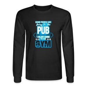 I Enjoy Going to the GYM - Men's Long Sleeve T-Shirt