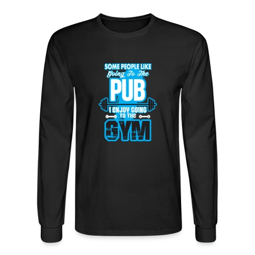 I Enjoy Going to the GYM - Men's Long Sleeve T-Shirt