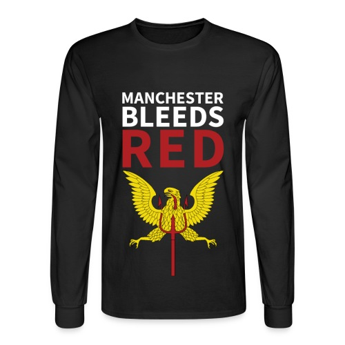 Manchester Bleeds RED - Men's Long Sleeve T-Shirt
