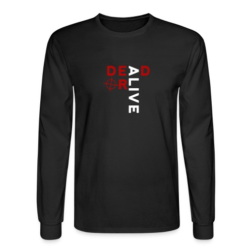DEAD OR ALIVE LOGO - Men's Long Sleeve T-Shirt