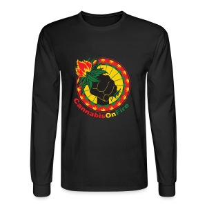 Cannabis On Fire 420 Power - Men's Long Sleeve T-Shirt