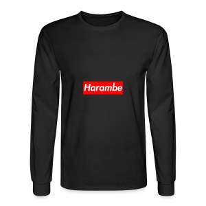 Harambe x Supreme Box Logo - Men's Long Sleeve T-Shirt