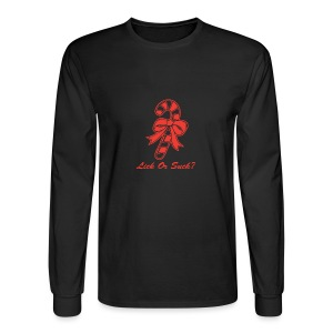 Lick Or Suck Candy Cane - Men's Long Sleeve T-Shirt