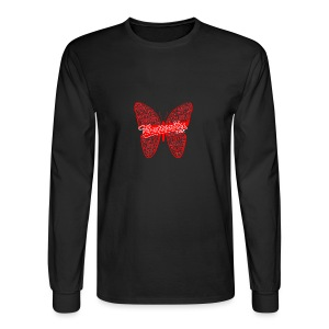 BUTTERFLY WORD RED - Men's Long Sleeve T-Shirt