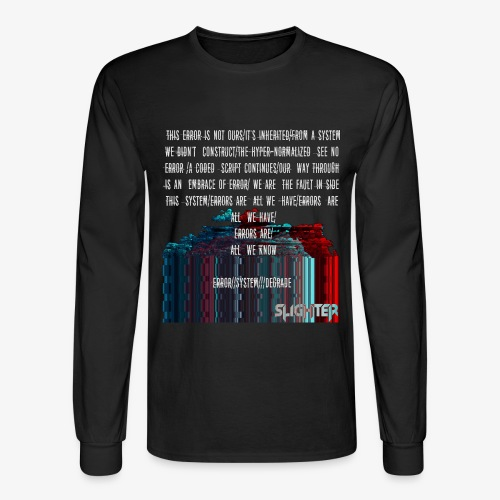 ERROR Lyrics - Men's Long Sleeve T-Shirt