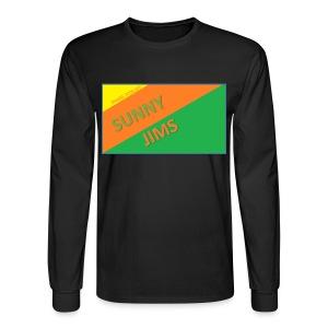 Sunny Jims YouTube Shirt Hoodie (Official) - Men's Long Sleeve T-Shirt