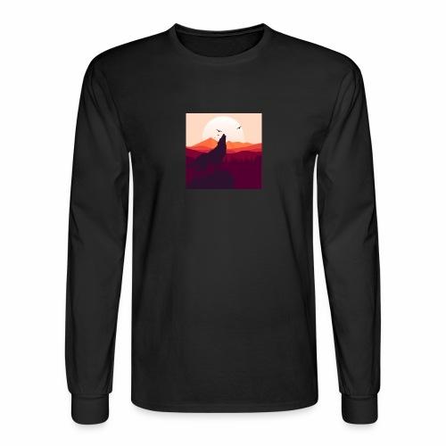 Howling Wolf - Men's Long Sleeve T-Shirt
