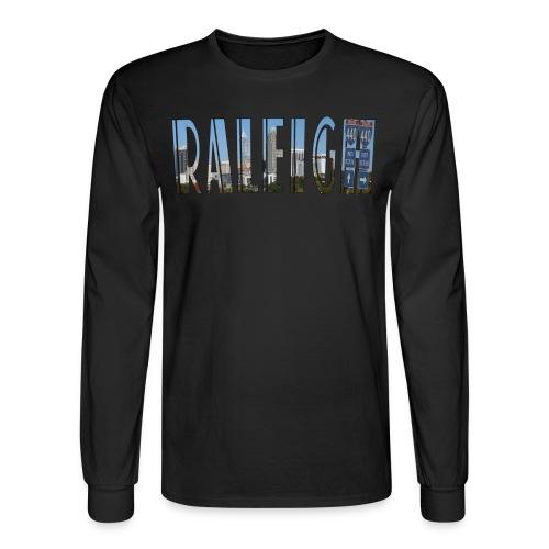 Raleigh Skyline Fall - Men's Long Sleeve T-Shirt