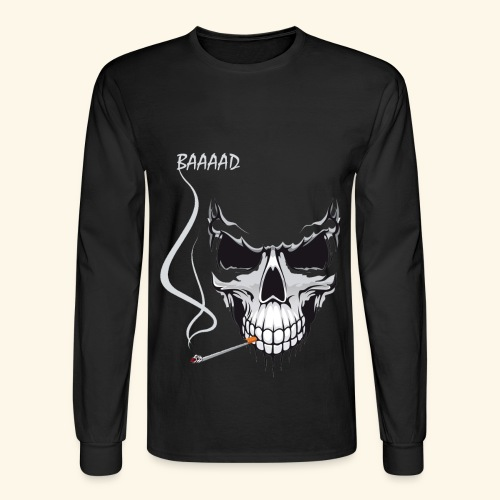 bad smoking skull long sleeve shirts - Men's Long Sleeve T-Shirt