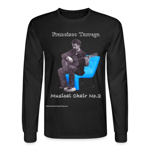 Tarrega sChair 2 by GuitarLoversCustomTees png - Men's Long Sleeve T-Shirt