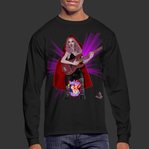 Happily Ever Undead: Blood Red Hood Bassist - Men's Long Sleeve T-Shirt