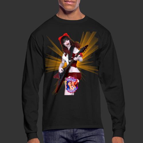 Happily Ever Undead: Crimson Snow Guitarist - Men's Long Sleeve T-Shirt