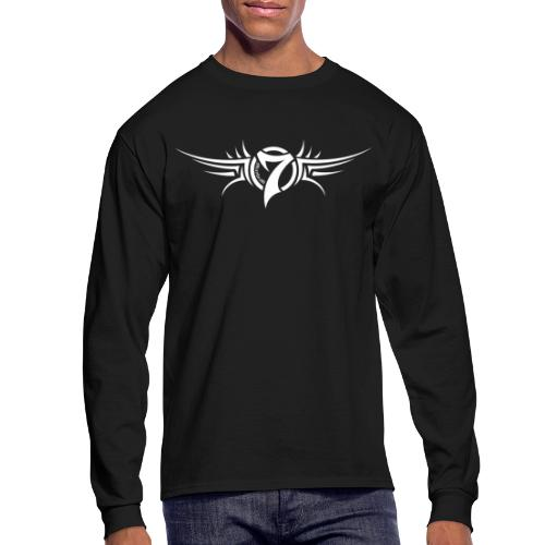 MayheM-7 Tattoo Logo White - Men's Long Sleeve T-Shirt