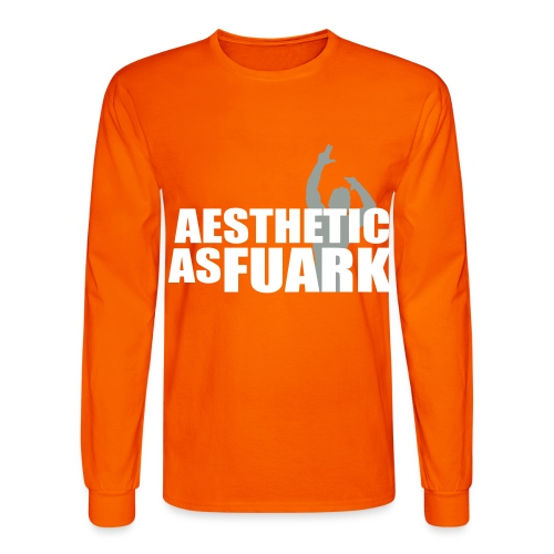 Zyzz Aesthetic as FUARK - Men's Long Sleeve T-Shirt
