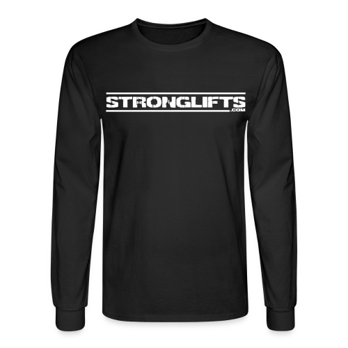 strongliftsfullwhite - Men's Long Sleeve T-Shirt