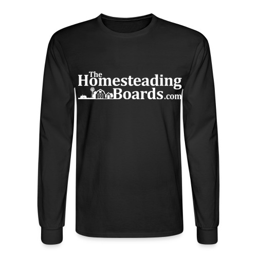 THB Black Logo BW 02 png - Men's Long Sleeve T-Shirt