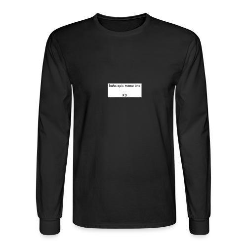 epic meme bro - Men's Long Sleeve T-Shirt