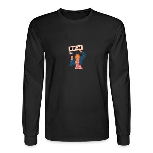 #BLM FIRST Women Petitioner - Men's Long Sleeve T-Shirt