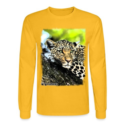 Leopard On A Tree - Men's Long Sleeve T-Shirt