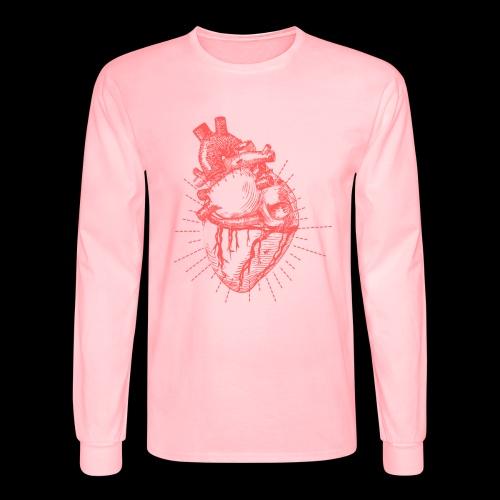 Hand Sketched Heart - Men's Long Sleeve T-Shirt